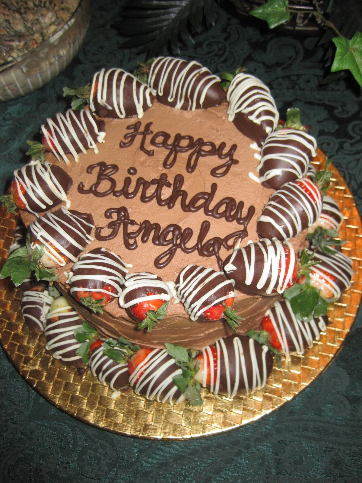 Chocolate Covered Strawberry Birthday Cake With Images