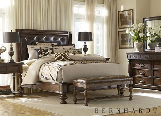 This #havertys Mandara bedroom would be a #stylish spot to get ...