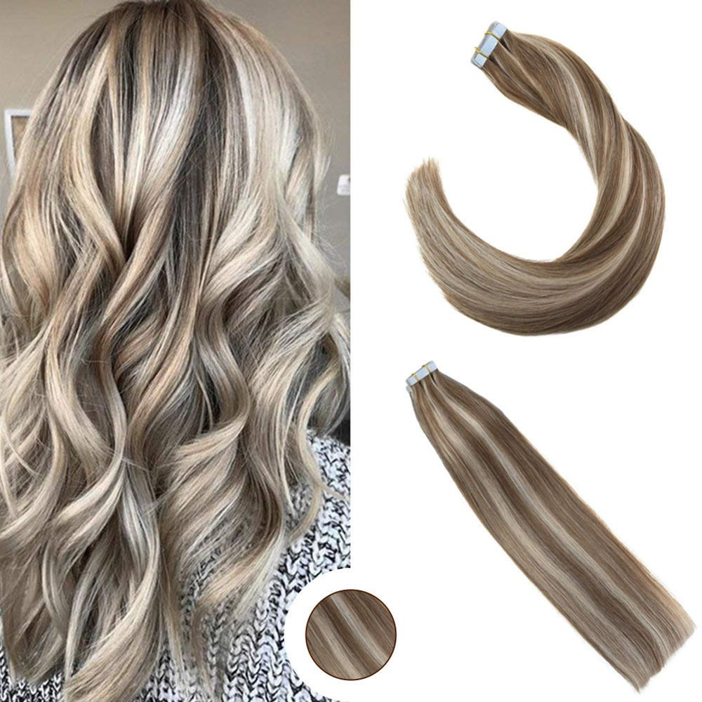 5Pcs 22 Brazilian Balayage Tape in Human Hair Extensions Golden Brown to Blonde #Ugea #Balayage #hairextensions #thanksgiving #gifts #humanhairextensions