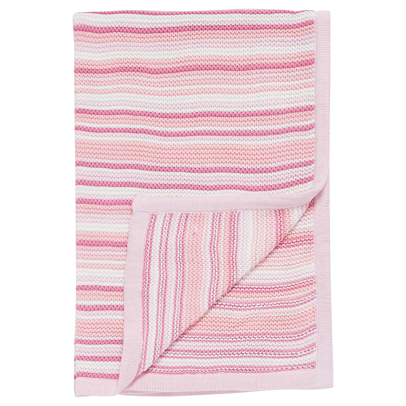 George Baby Pink Striped Shawl Blanket