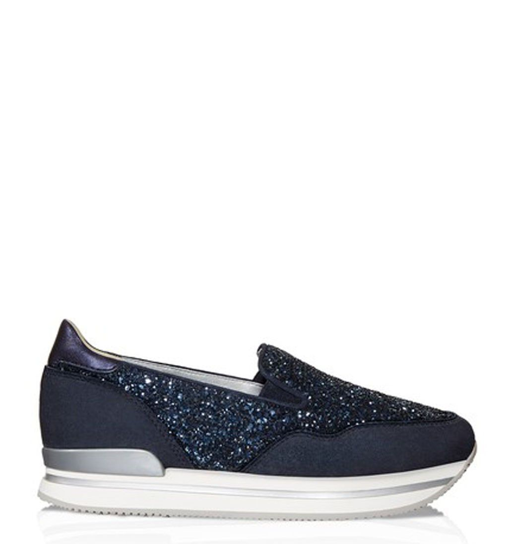 Hogan REBEL ESPADRILLAS COLOR GHIACCIO Silver Donna Slip on