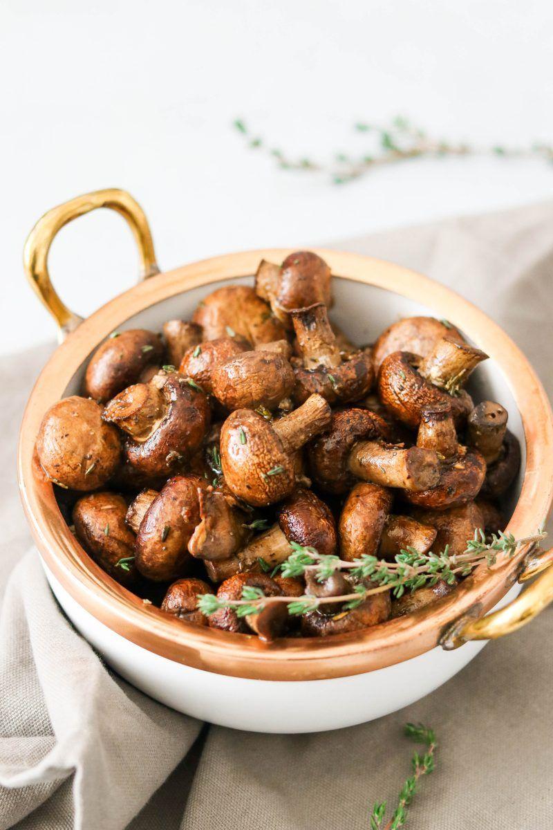 Balsamic Garlic Roasted Mushrooms Paleo Whole30 Keto Aip Vegan