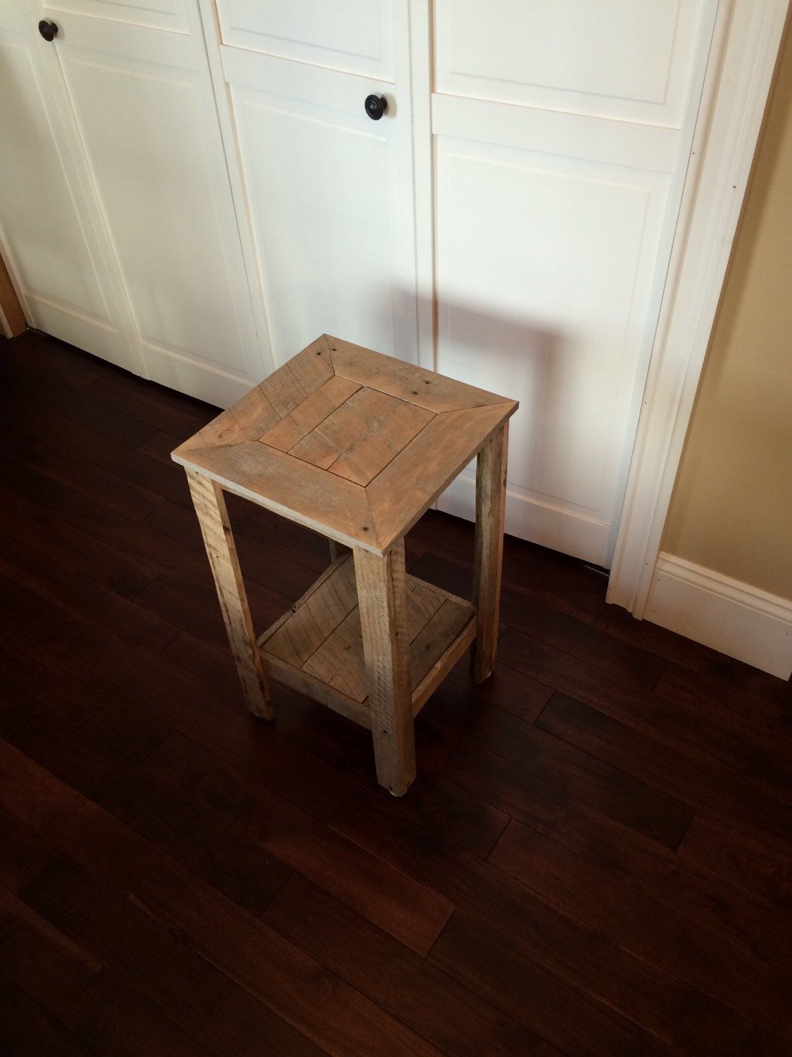 Rustic Pallet Wood End Table, Night Stand, Side Table by