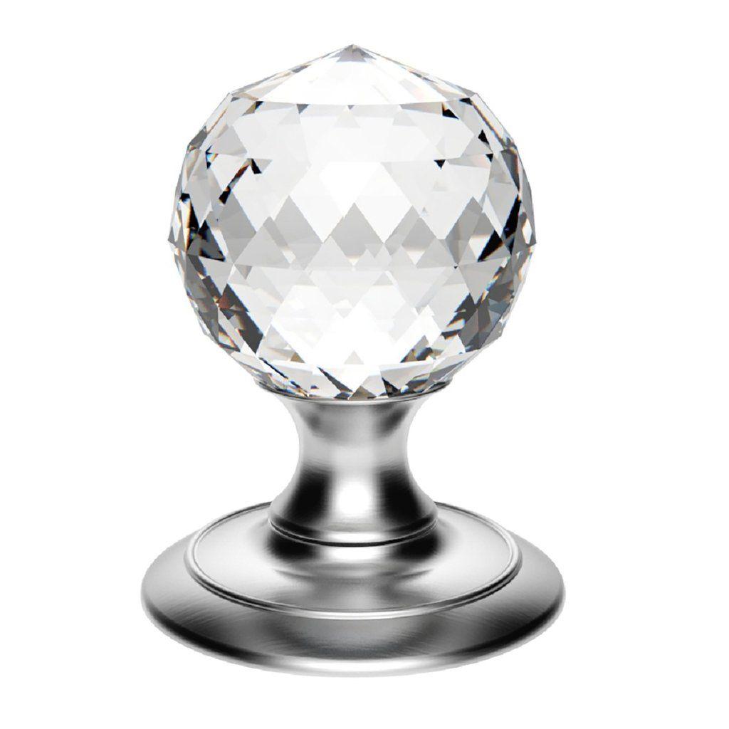 Delamain AC020 Ice Facetted Crystal Mortice Knob Handles | Door ...