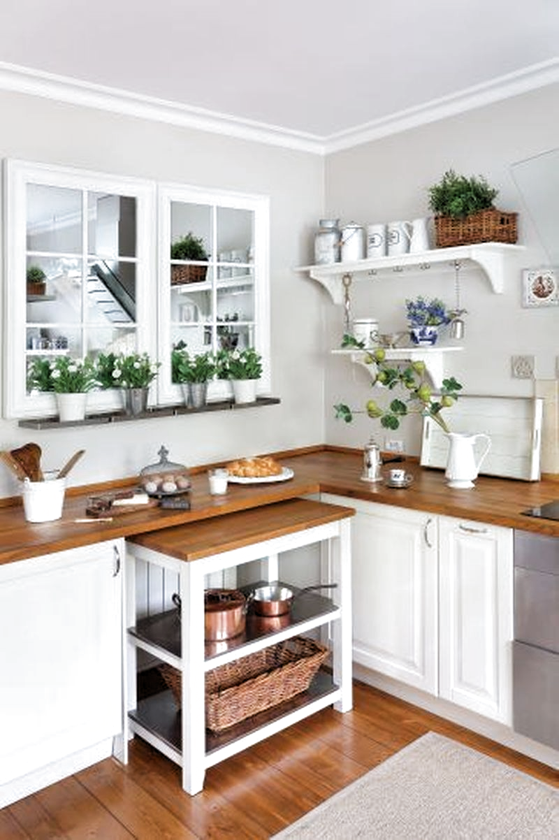 9 Rustic Kitchen Cabinet Designs for your Long Narrow Kitchen ...