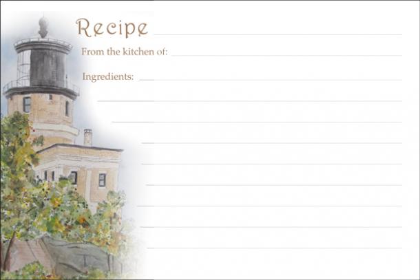 cards recipe stationery
