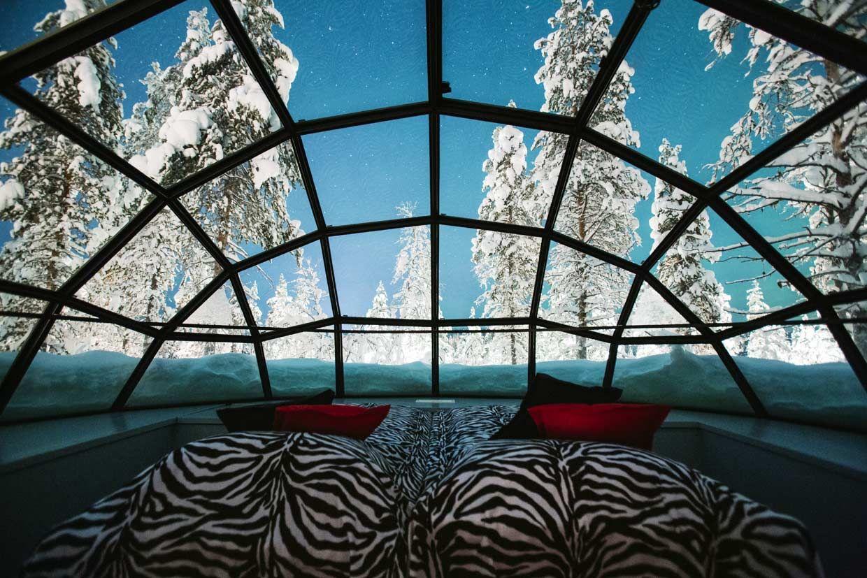 Un capricho de Navidad: dormir en un iglú de cristal