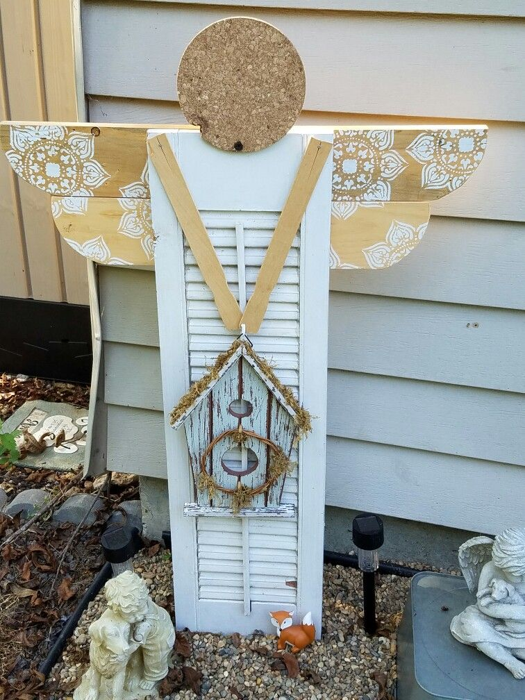 Crafts Made With Shutters Shutter Angel Yard Art Remarkable Project On