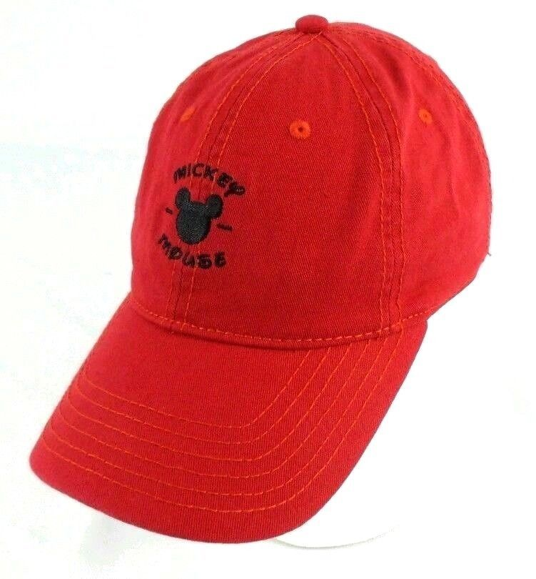745fa25b1a0 Mickey Mouse Dad Hat Baseball Cap Red Adjustable Strapback OSFM Adult   Disney  BaseballCap