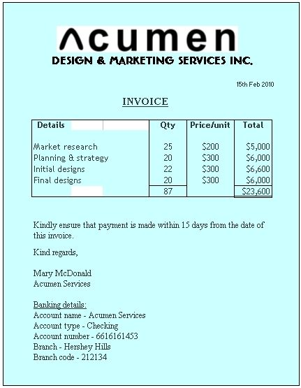 Example Of Invoice Accounting Pinterest Source Documents   Invoice Documents  Invoice Documents