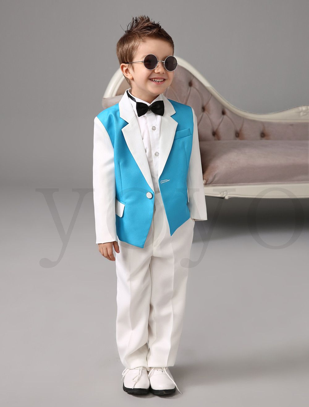 Four-Pieces-Luxurious-blue-and-white-Ring-Bearer-Suits-cool-Boys ...