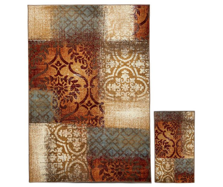 I Found A Vintage Patchwork Accent Area 2 Piece Rug Set At Big