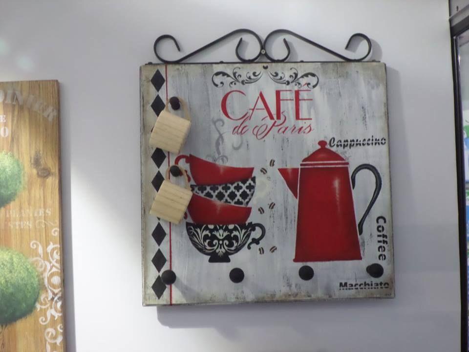 cuadro cocina cafe portatazas stencil