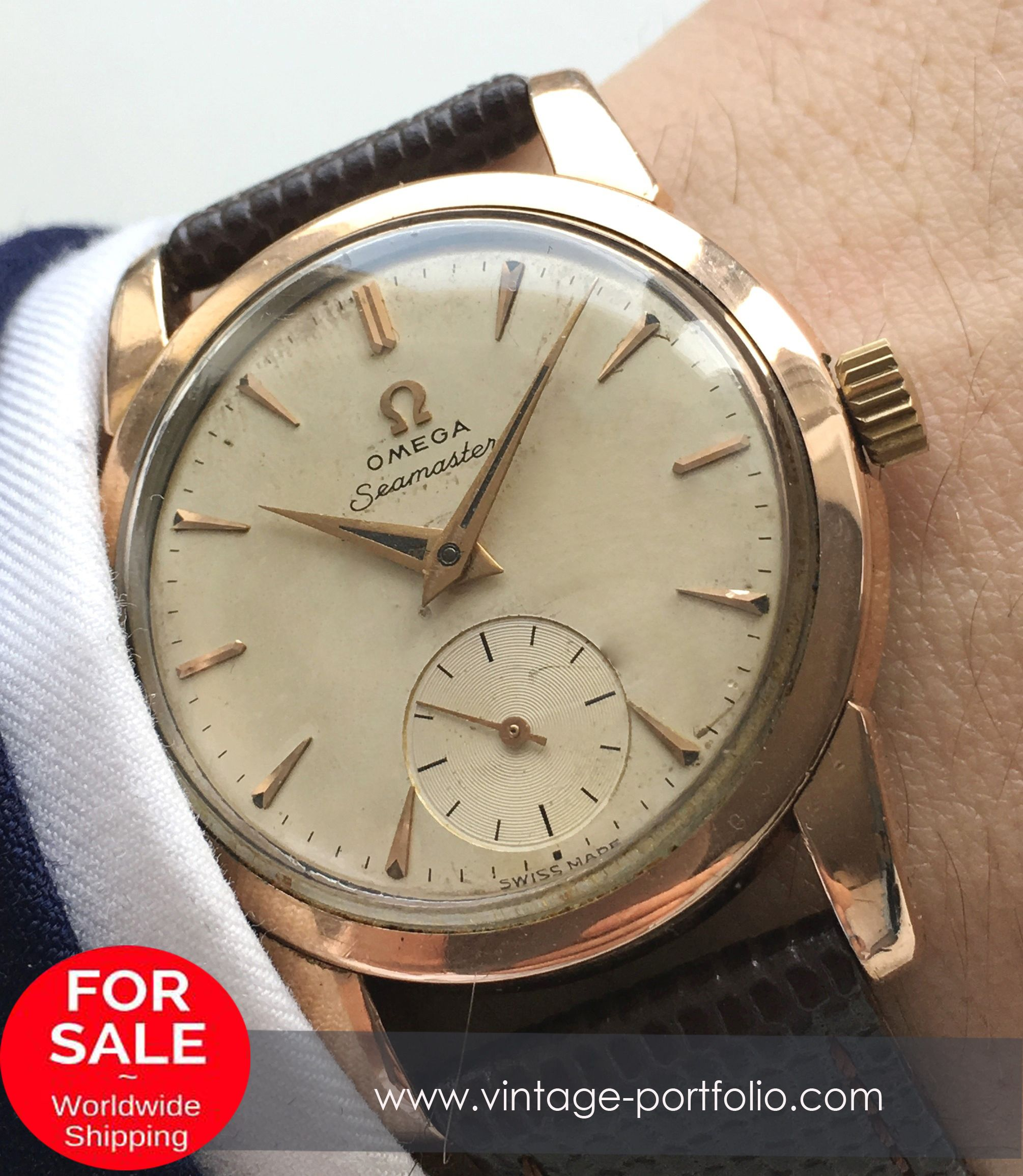 Superrare Omega Seamaster cal 410 pink gold plated 874d823f60