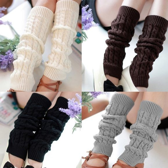 Knit Crochet Winter Leg Warmer Socks Net Weight: 62g 3 Colors: Black, White, Light Gray Material: Knitting Wool Size:44x 11cm (L x W) Style: Casual The necessary accessory for the winter season when you go outside. The style is the same as shown in the pictures, but not the same performance on different bodies as on the model. Trendit.clothing Accessories