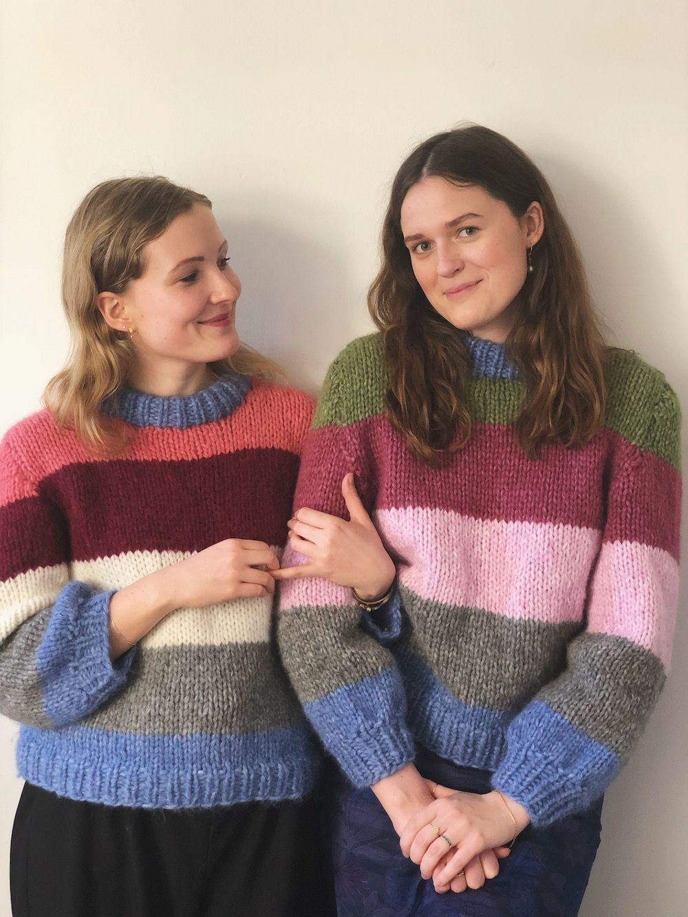 93f20fcb Ganni inspireret sweater med striber Gratis Strik, Striped Cardigan,  Strikkeprojekter, Tørklæder, Kvinder