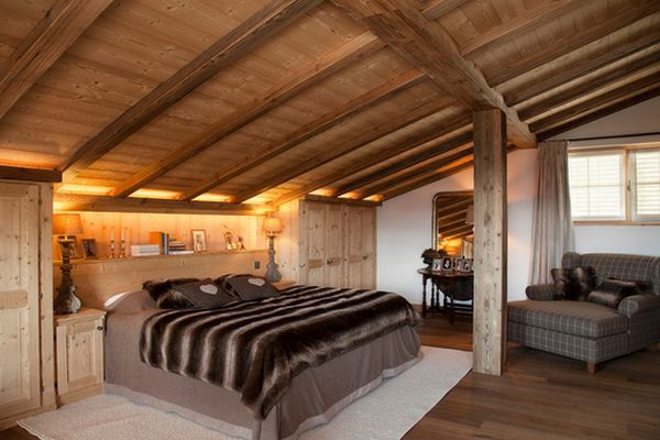 ski resort schlafzimmer einbau beleuchtung rustikal decken balken home sweet home pinterest. Black Bedroom Furniture Sets. Home Design Ideas