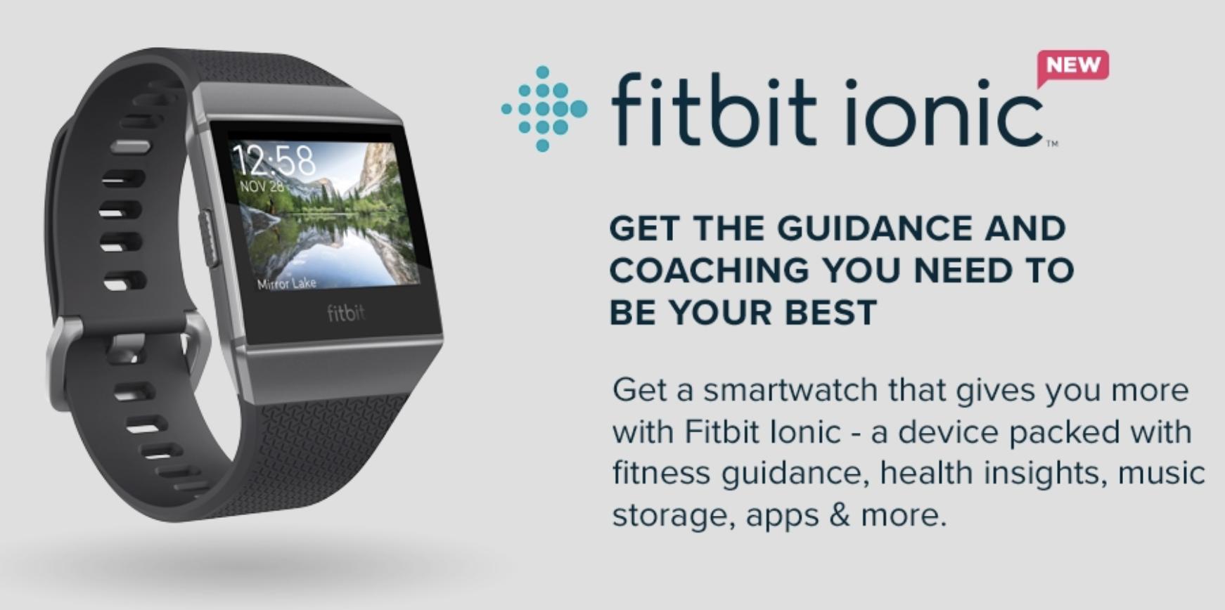 Fitbit Uniionic Smartwatch Start Dynamic Personal