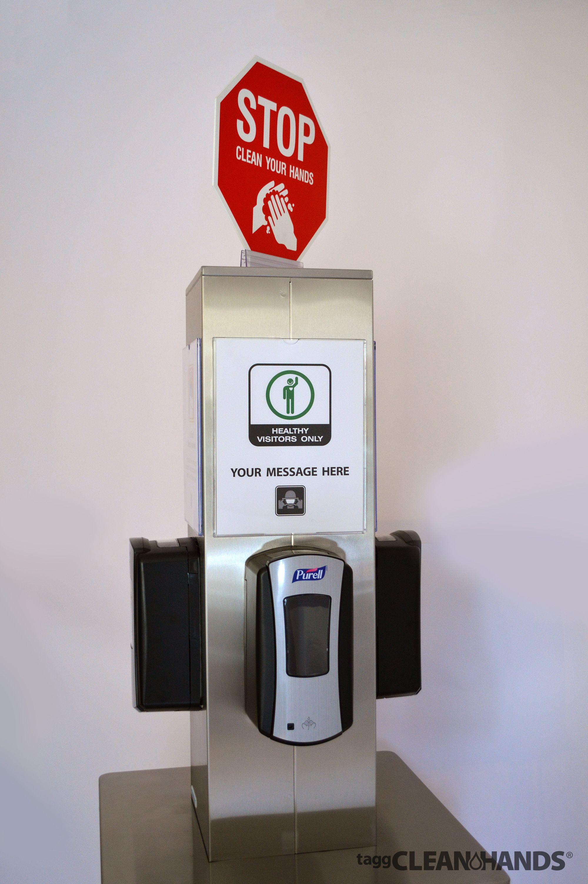 Polyjohn Sanistand Two Level Ada Sanitizer Station San1 2100