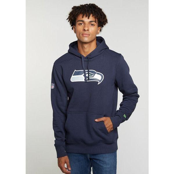 NEW Era-NFL SEATTLE SEAHAWKS Team Logo Hoodie-GREY