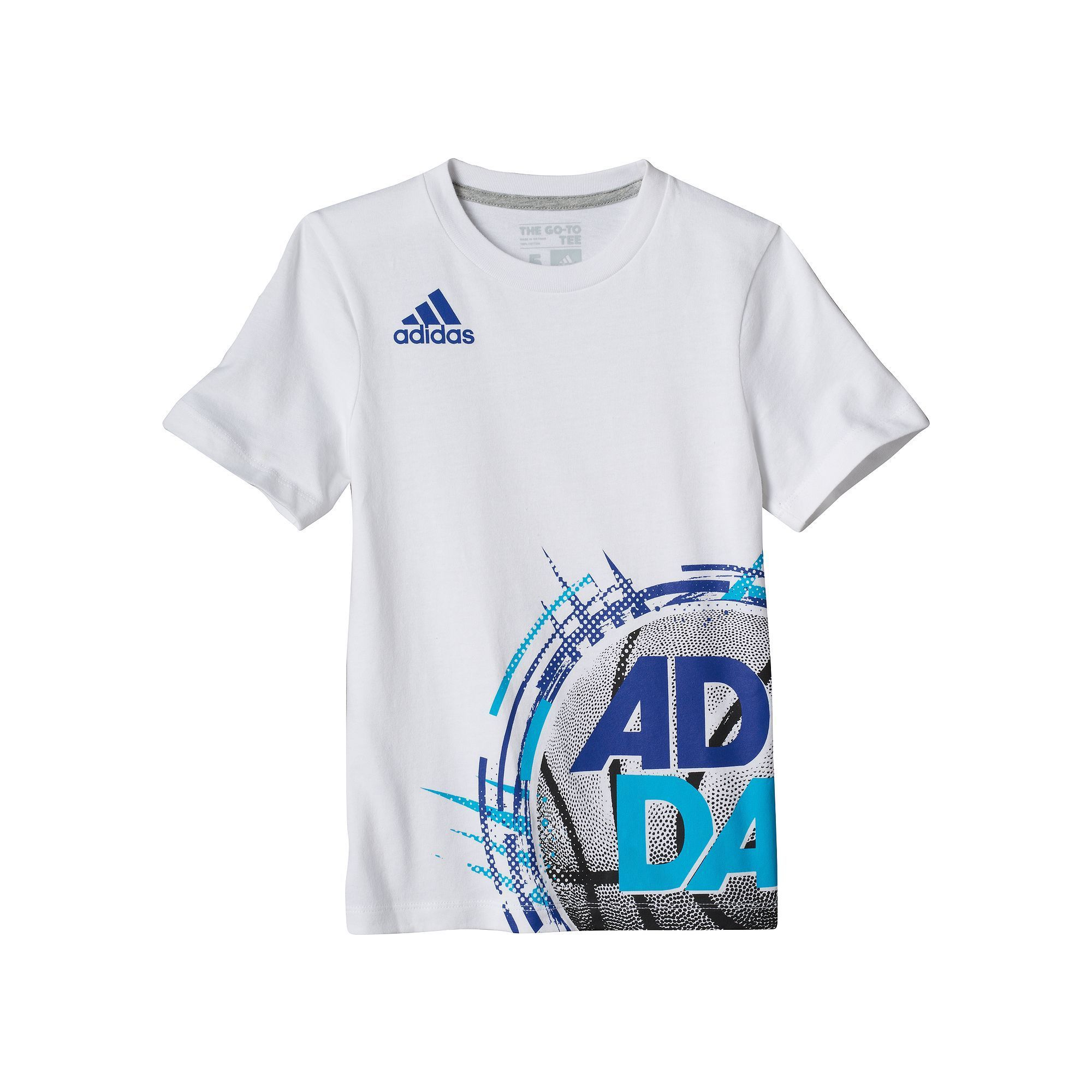 Boys 4-7x Adidas Sports Wrap-Around Graphic Tee, Boy's, Size: