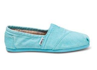 New Styles - Fluorescent Turquoise Palmetto Women's Classics | TOMS.com