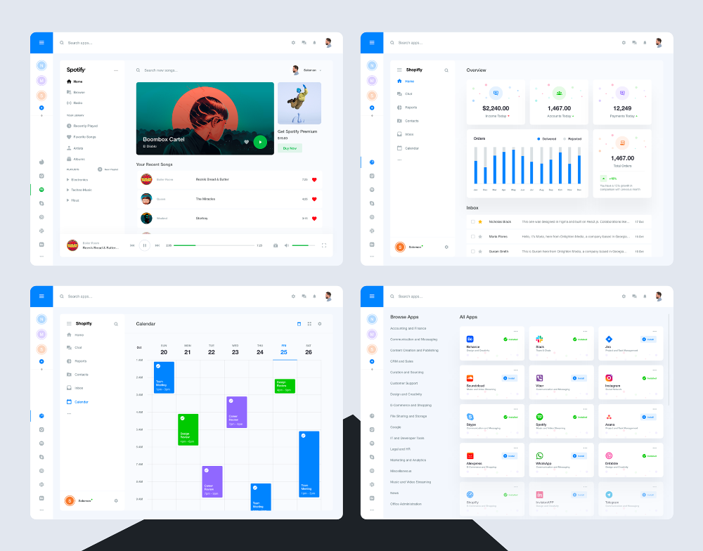 Shift App Redesign (unofficial) on Behance Web design