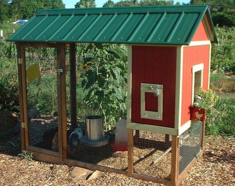 Here S A Chicken Coop Design With A Green Metal Roof Chicken Coop Blueprints Chickens Backyard Diy Chicken Coop Plans
