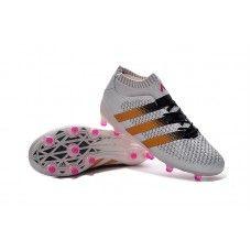 release date: d2605 b306e adidas ACE 16.1 Primeknit FG - White Solar Gold Shock Pink cheap football  shoes