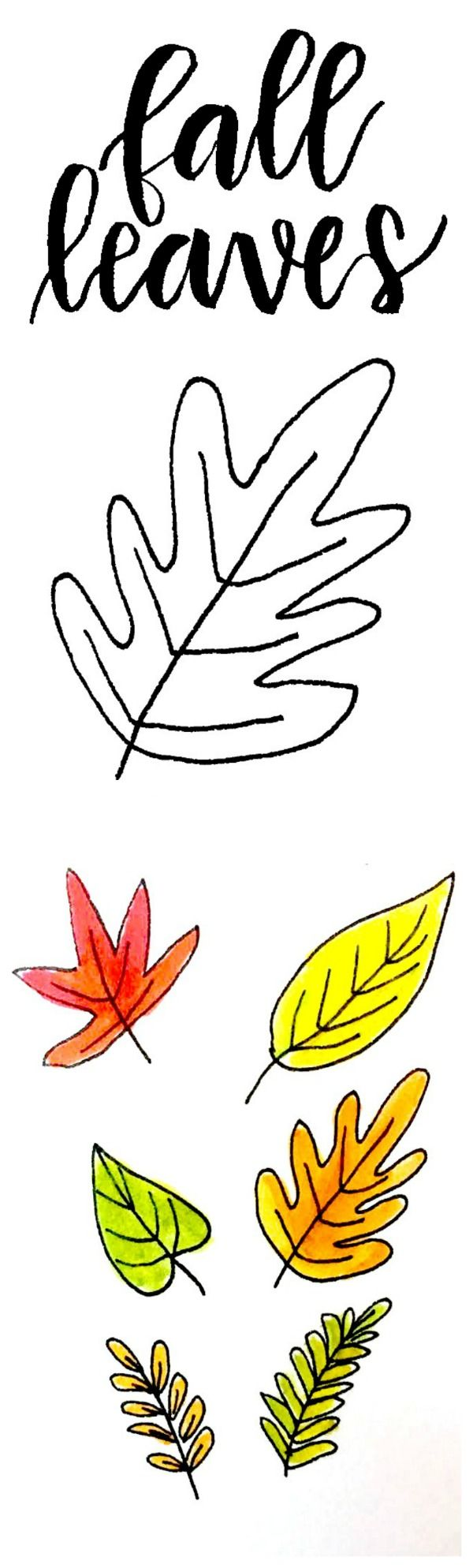 Seven Ways To Draw Fall Leaves Fall Leaves Drawing Fall Drawings Leaf Drawing