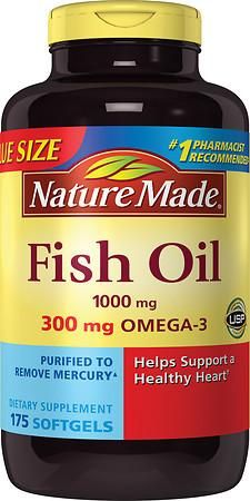 Nature Made Fish Oil 1000 Mg. Value Size - 175 Ea #naturalcures
