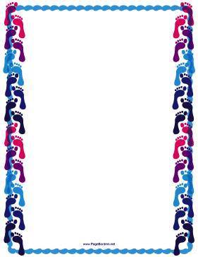 Footprint Border | Page borders, Clip art borders, Free clip art