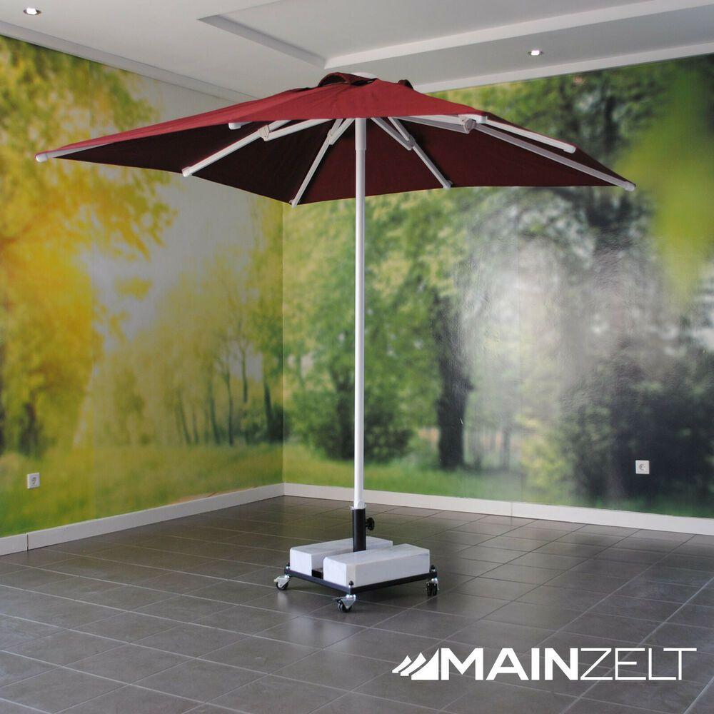 Main Zelt Marktschirm 2x2m Sonnenschirm Gastroschirm Dunkelrot