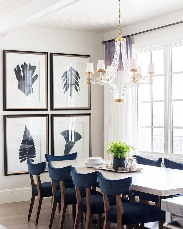 Classic Clean And Navy Dining Room With Gorgeous Crystal Cool Crystal Dining Room Chandeliers Design Ideas