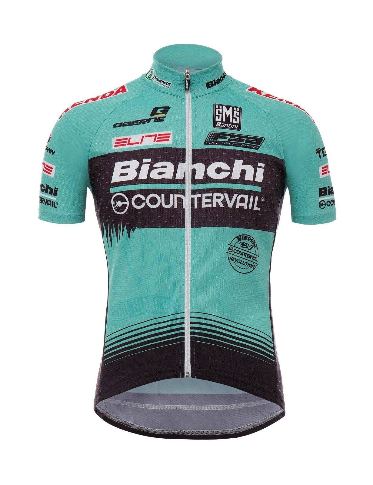 bae94f60f awesome 2017 Bianchi MTB Workforce Basic match CYCLING JERSEY Made in Italy  by Santini