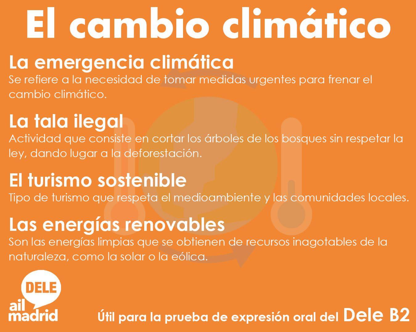 El Cambio Climatico Cambio Climatico Aprender Espanol Tipos De Turismo
