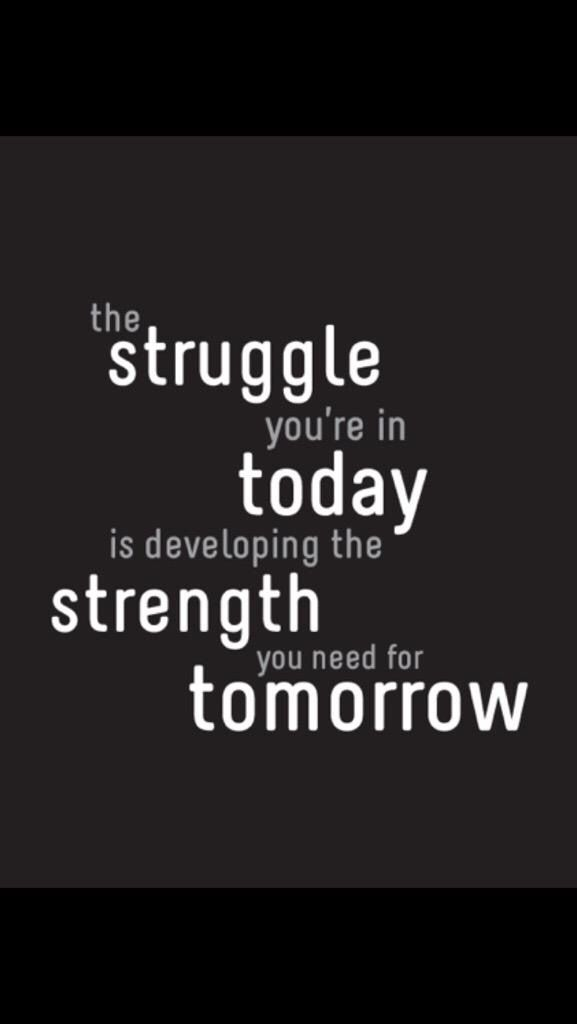 The struggle you're in today is developing the strength you need for tomorrow. #kneereplacement