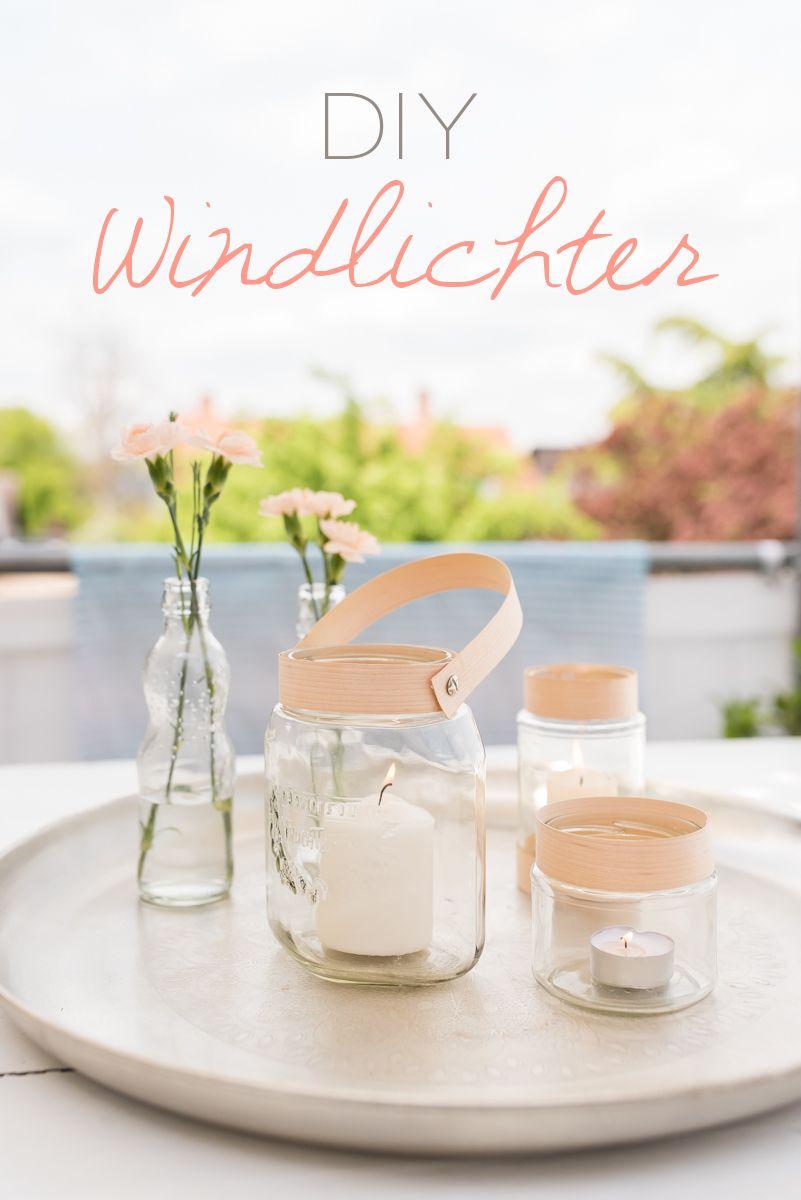 diy - Windlichter mit Holzfurnier   Pinterest   Diy upcycling ...