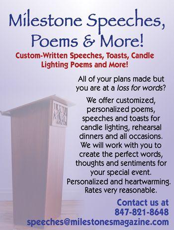 Milestones Customized Speeches And Poems For Your Event Email Speechesmilestonesmagazine Com