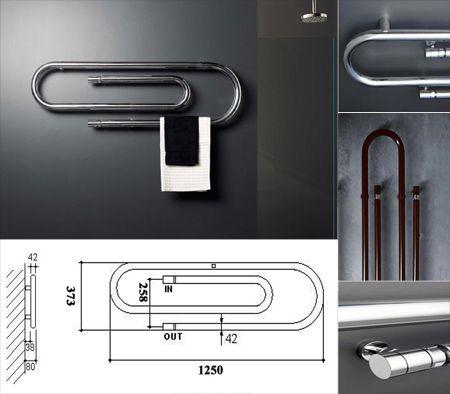 The Clip Designer Bathroom Towel Warmer - livinghouseuk House - porte serviette salle de bain design