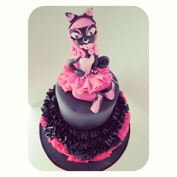 6th Birthday Catty Noir Monster High Cake
