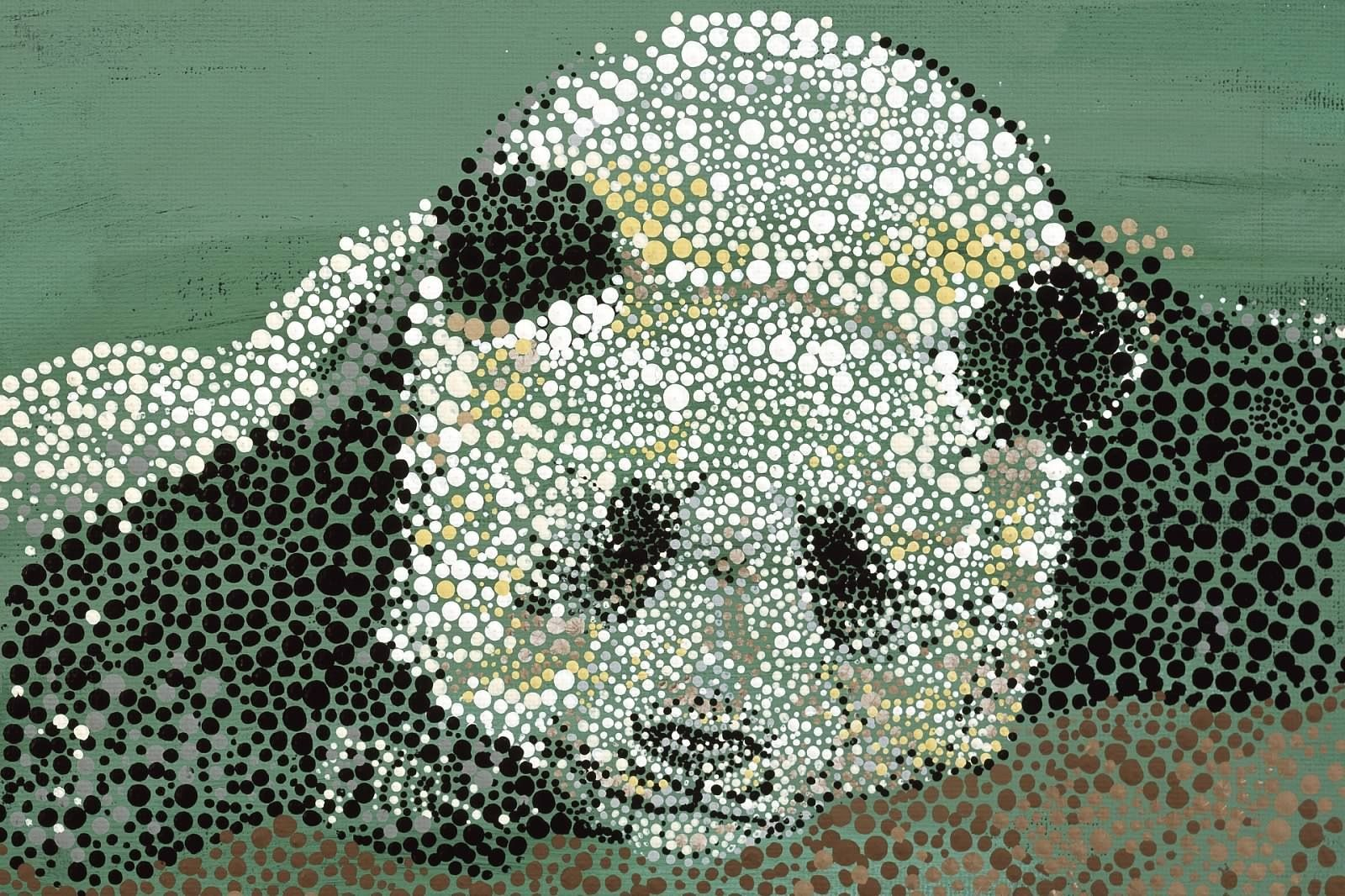 Giant Panda Acrylic Dot Painting From My Book Quot Through