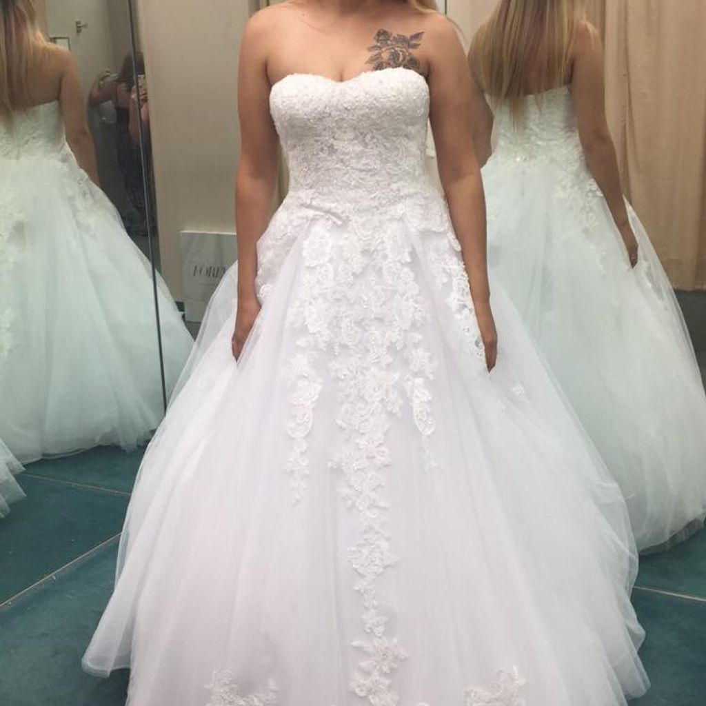 Sheer Lace And Tulle Plus Size Wedding Dress David S Bridal Davids Bridal Wedding Dresses Wedding Dresses Wedding Dress Couture