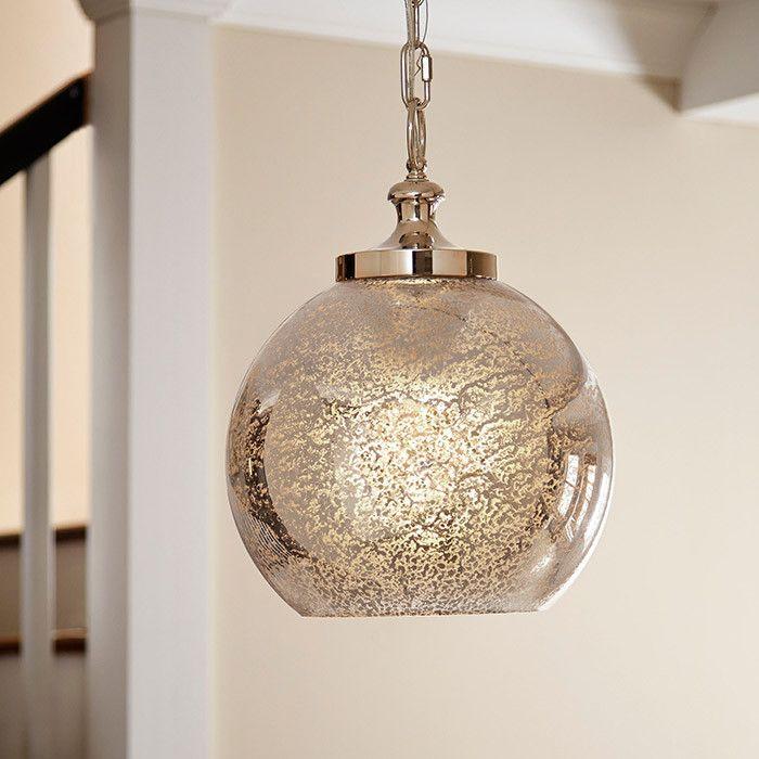 Mercury Glass Light Fixtures Part - 48: Mercury Glass Pendant Light