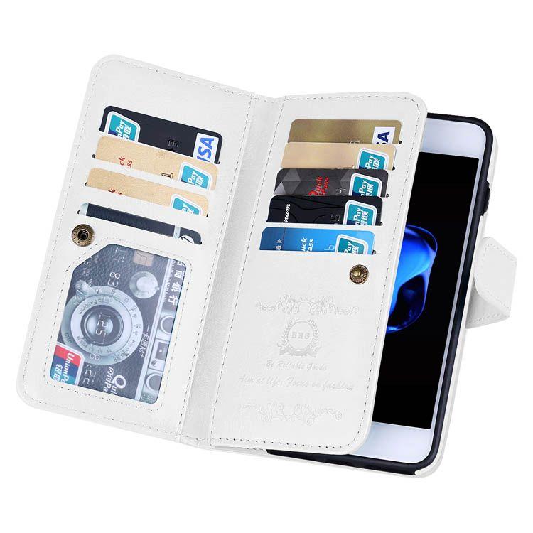 Brg iphone 8 plus 9 card slots wallet 2 in 1 case