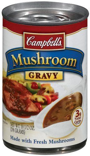 Amazon Com Campbell S Mushroom Gravy 10 5 Oz Cans 24 Count Grocery Gourmet Food Mushroom Gravy Stuffed Mushrooms Vegan Mushroom Gravy