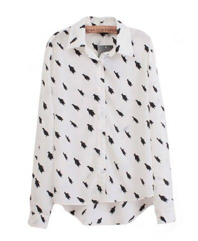 8c19ccfd5 Penguin Print Shirt with High Low Hem.. This is too cute, I had to order it  :)