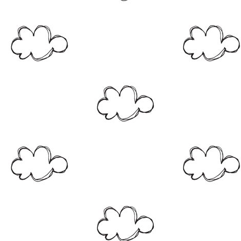 Cloud Sketch Fabric By Tagkari On Spoonflower Sketches Textile