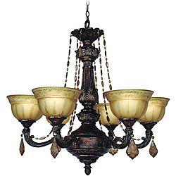 Woodbridge Lighting Lucerne 6 Light Old World Bronze Chandelier Com 400