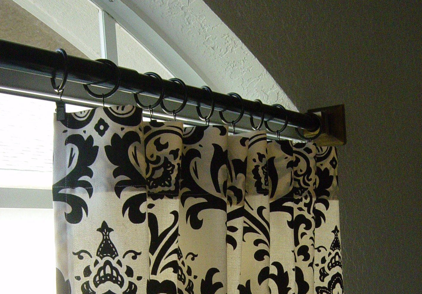 For the master bedroom. Damask curtains.